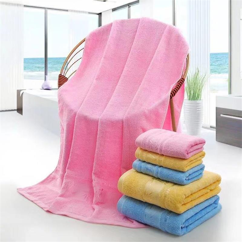 Bamboo 100% Fabric Big Beach Room Custom Carton Bath Towel Sets