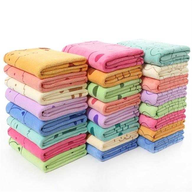Kids Children's Microfiber 70*140 Big Beach Bath Towel Sets