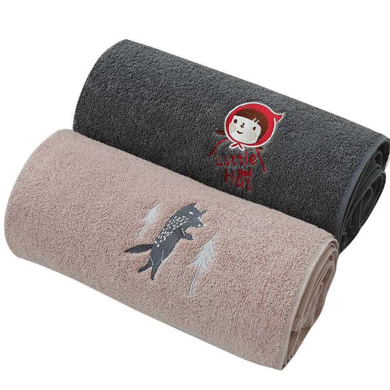 Kids Children's Bamboo 100% Fabric Big Beach Room Custom Carton Bath Towel Sets