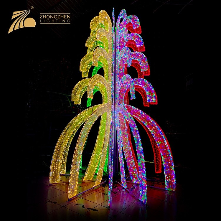 CE RHOS Approve RGBW Color Changeable Custom Made Christams Tree Light 3D LED Motif