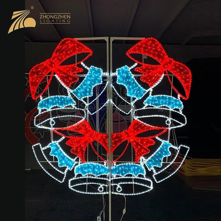 Professional Custom Festive Decoration Fixtures LED 2D Motif Light Christmas