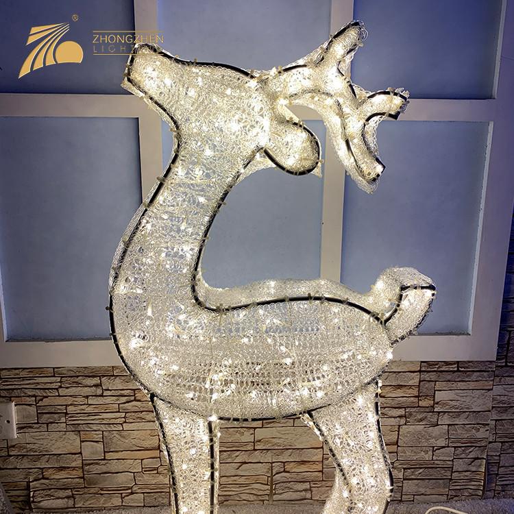 Professional Manufacturing Outdoor Christmas Decoration 3D Reindeer motif Light