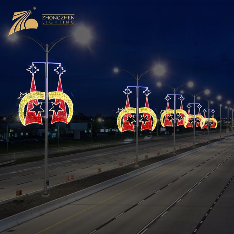 Environmental Protection Custom Outdoor Street Pole Decoration LED Holiday Lighting