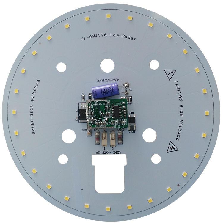 110v lm/W 80 Ra white pcb smd ac dob led module board for LED Motion Radar Sensor Ceiling Light