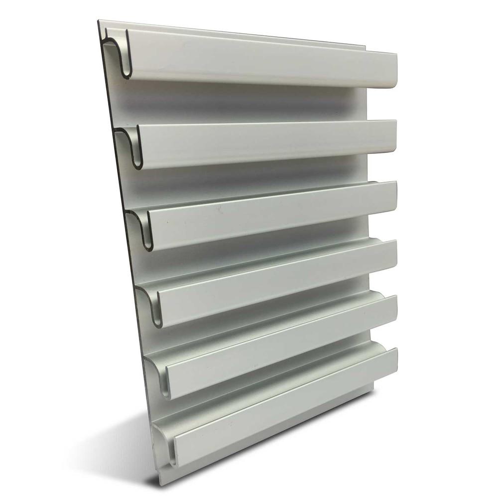 Garage aluminium slatwall panels slatwall