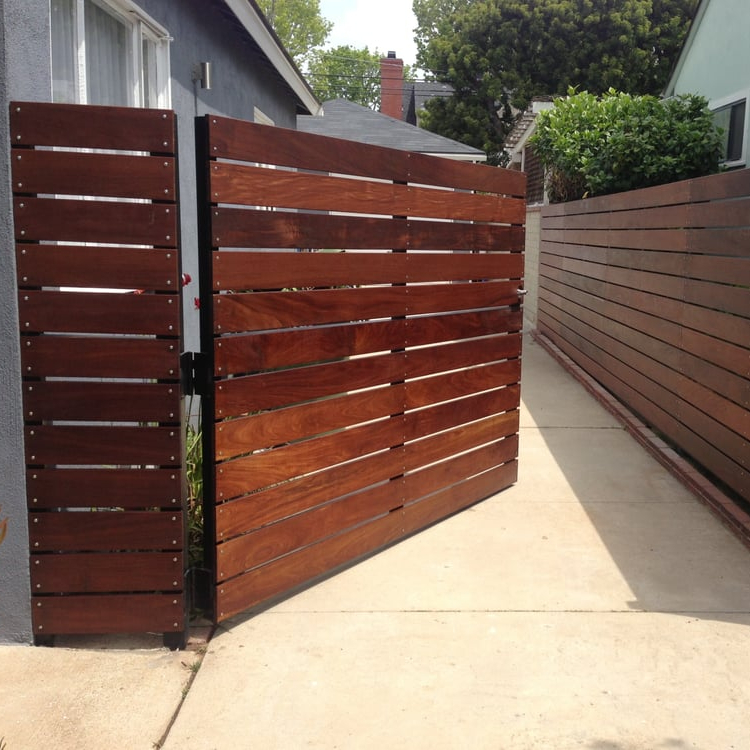 Decorativewood grain aluminum slat fence for balcony