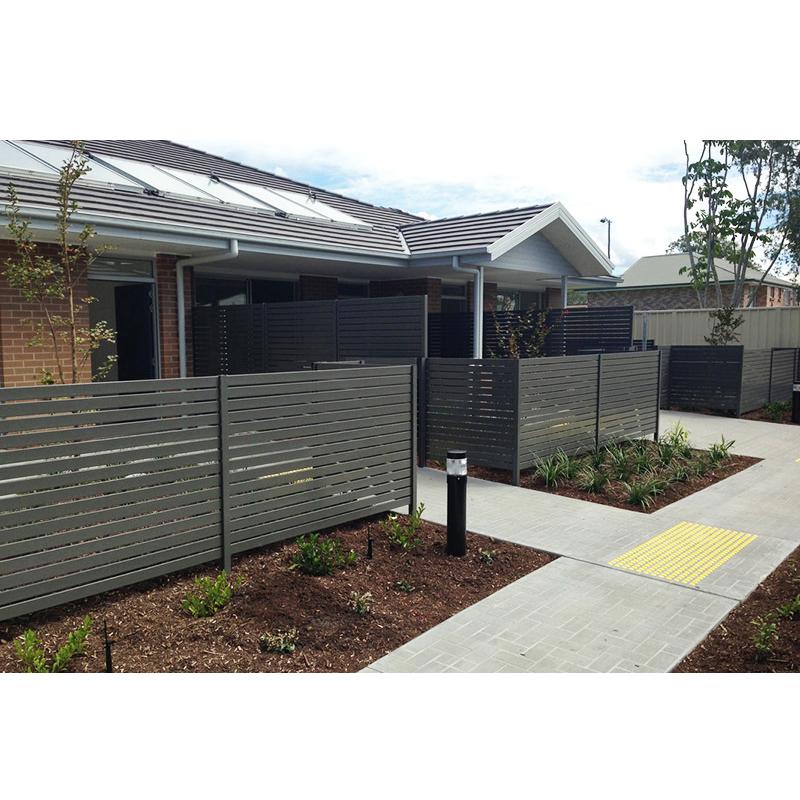 Fixed aluminium louver fence panel