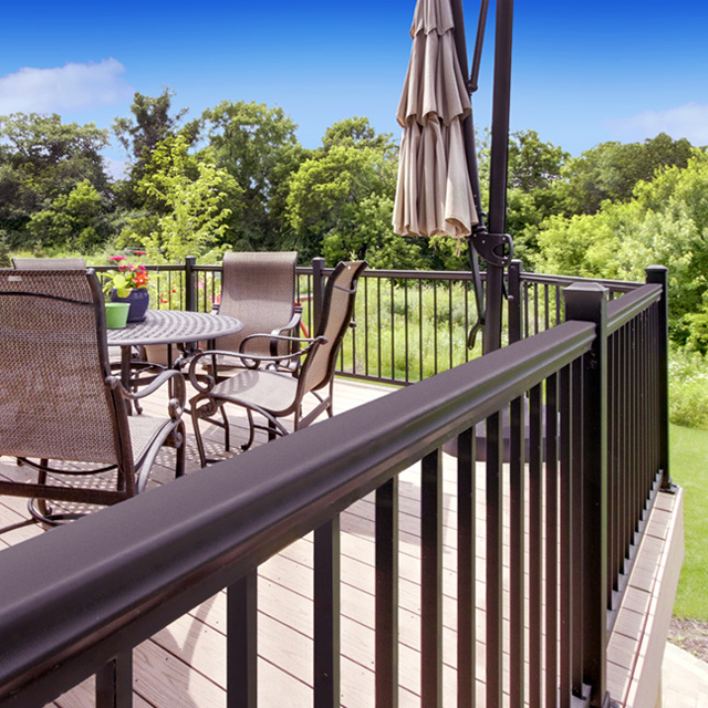decorative aluminium slat fencing bunnings low maintenance for balcony