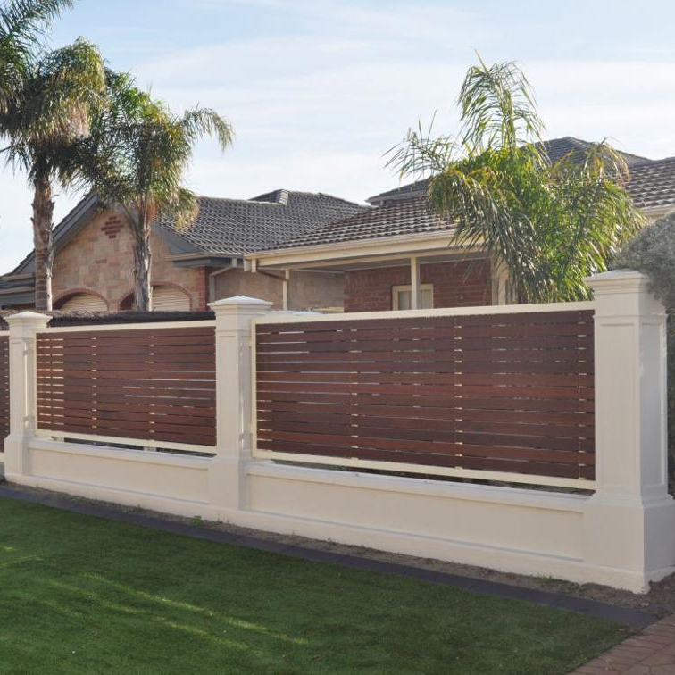 Modern garden design privacy fixed louver aluminum fence