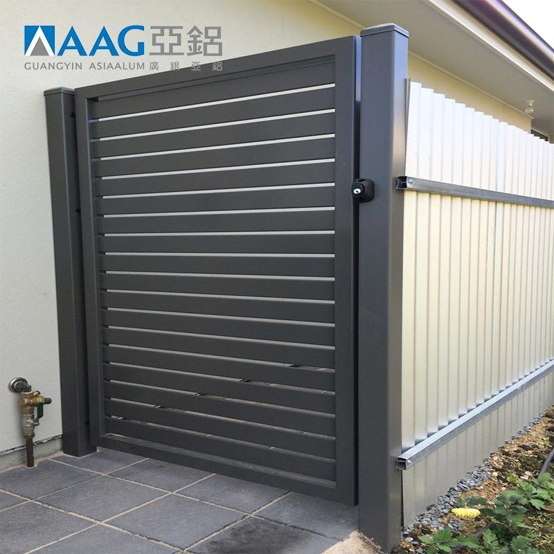 6063T5 Decorative Aluminum Slat Panel Fence