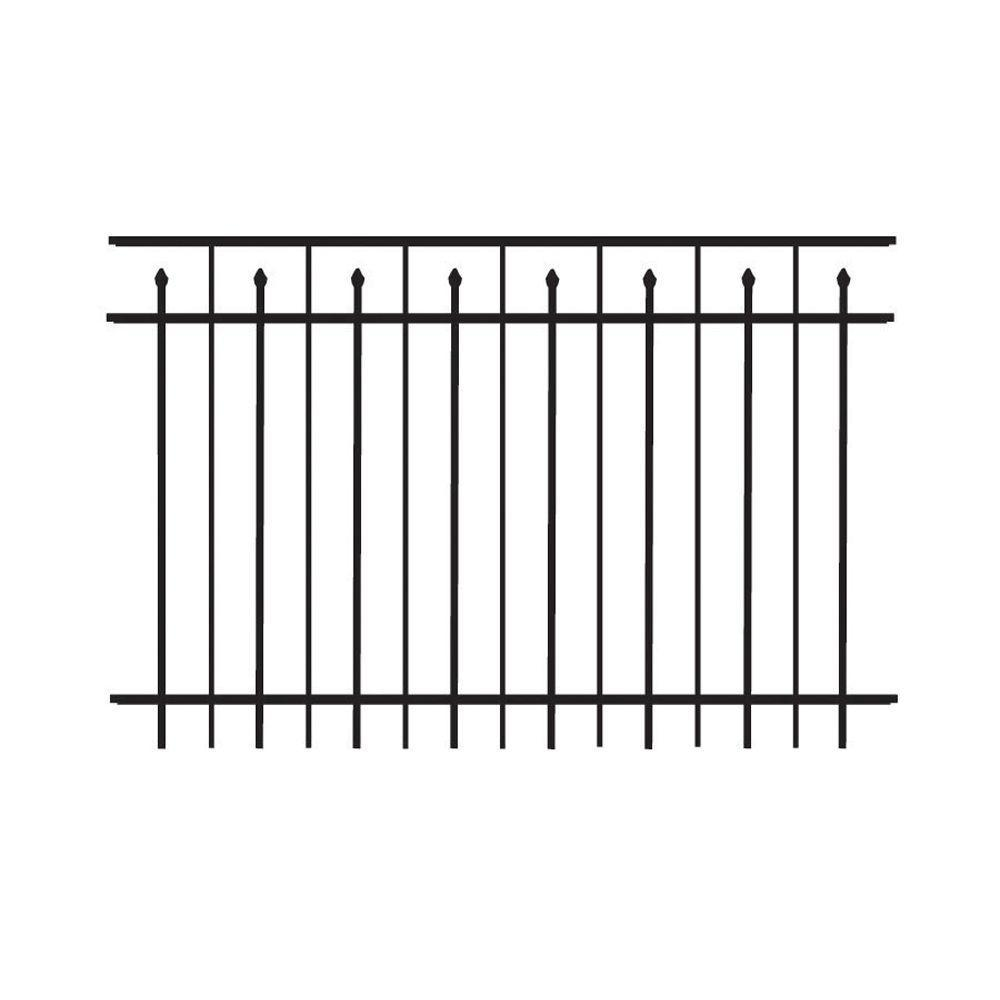 Top QualityA Residential Aluminum Fence Section Black Bronze