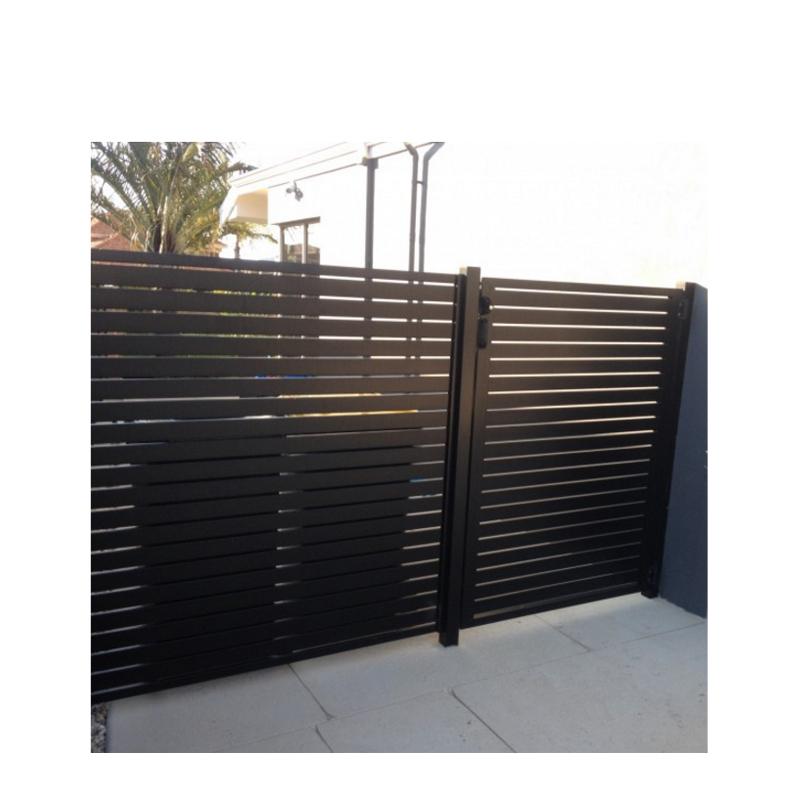 Horizontalprivacy fence aluminium panel fence slat fence