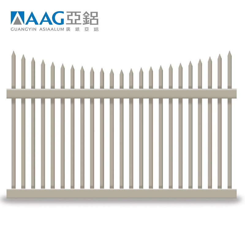 Aluminum Fence Section Black Bronze or White