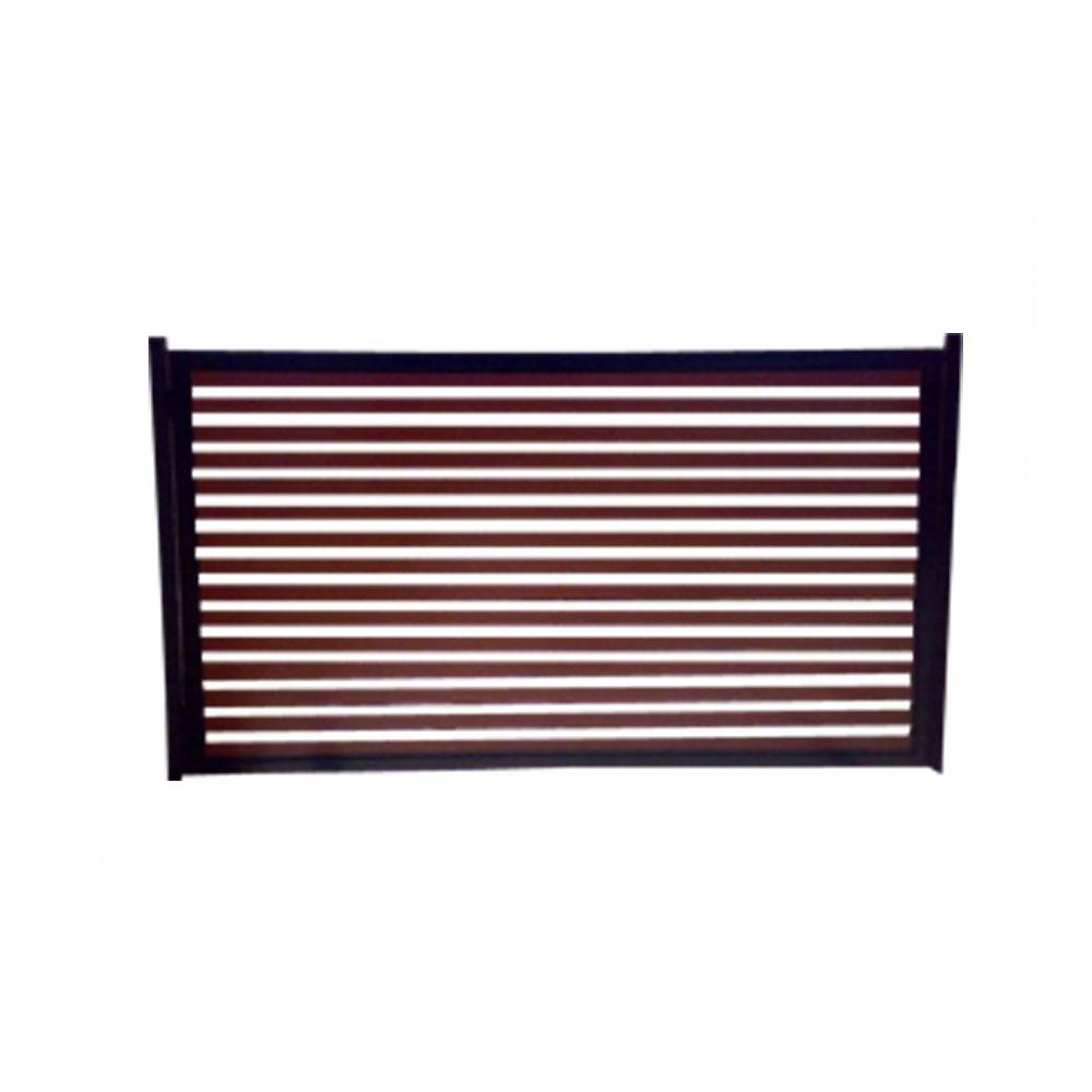 Powder coated modern Design aluminum slat fence vertical