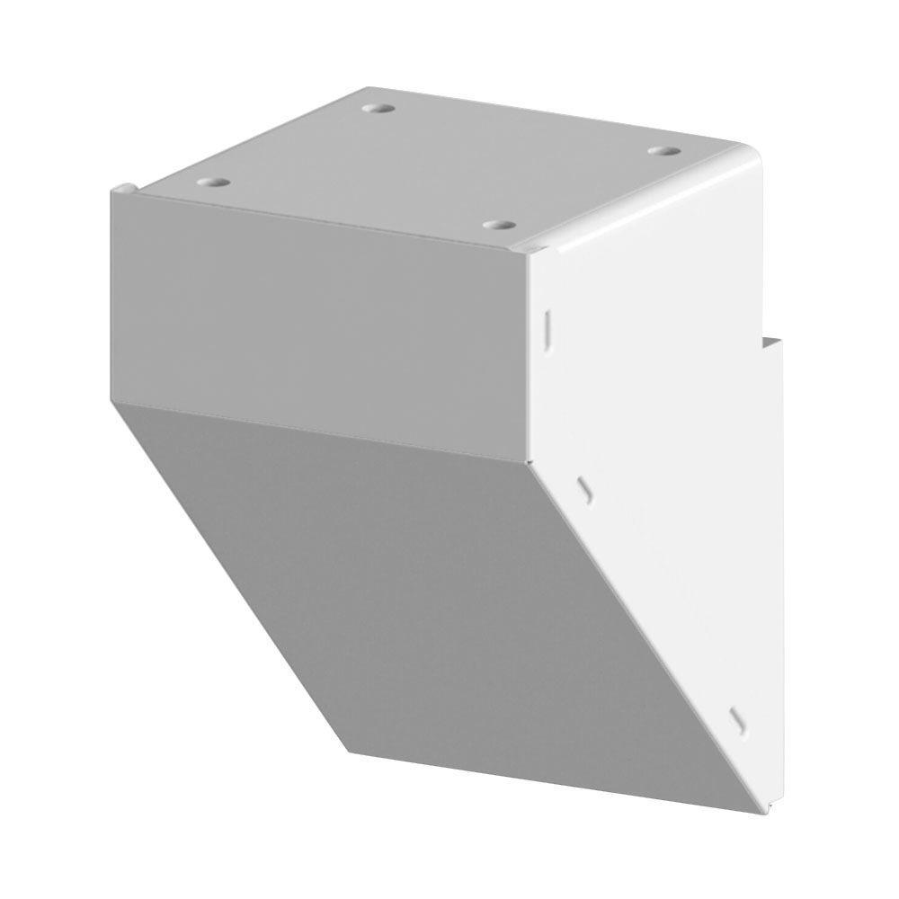 OEM Price White Aluminum Railing Fascia Mount Bracket for Mid/End/Stair Fence Railing Post