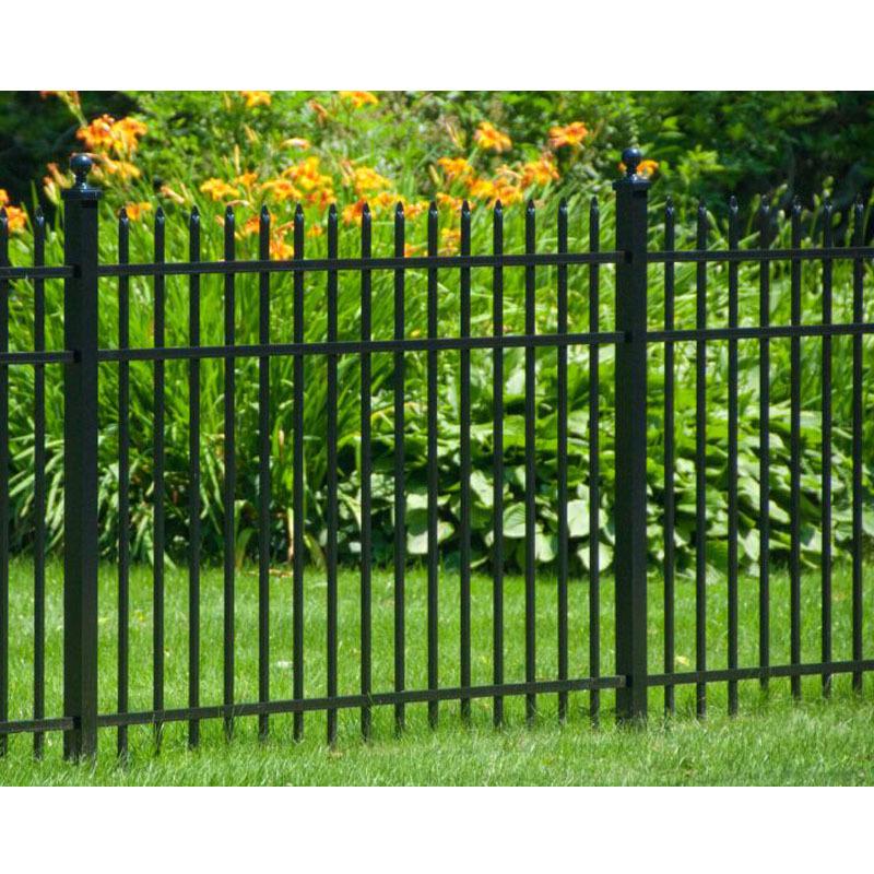 Acceptable price wood grain used aluminum fence slats aluminum short garden fence