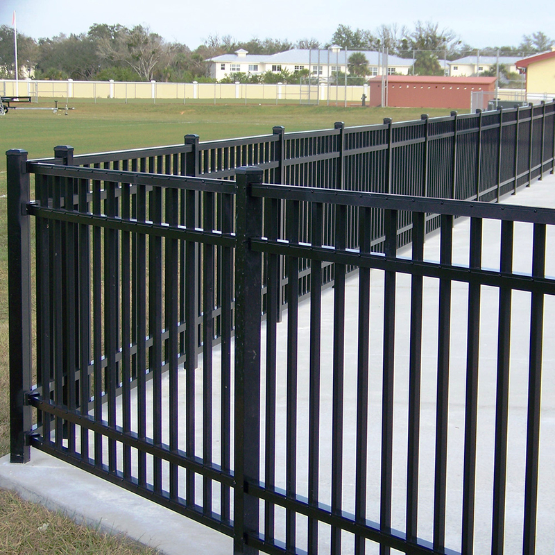 decorative aluminum pool fence low maintenance for garden