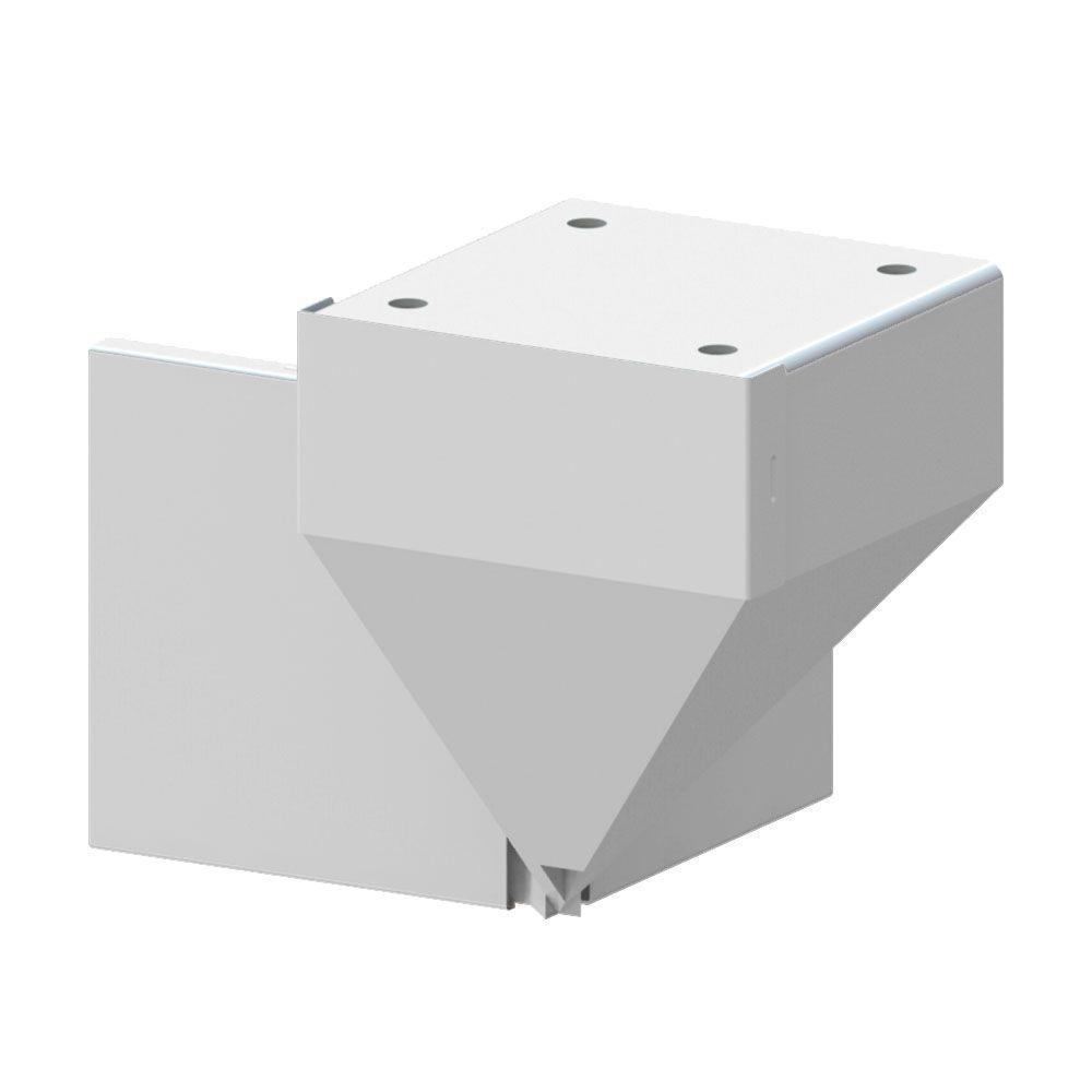 Extruded White Aluminum Railing Fascia Mount Bracket for Mid/End/Stair Fence Railing Post