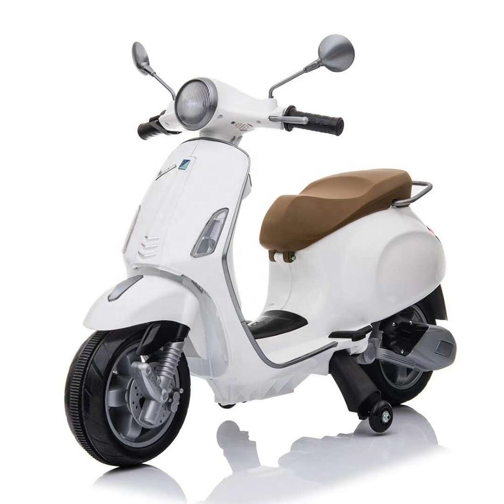 cheap vespa licensed electric motorcycle for child rechargeable battery toy kids motorcycles for sale