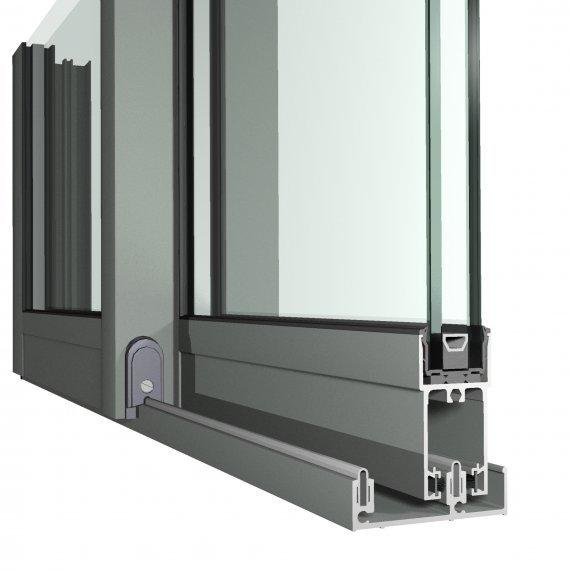 Good Large Section Thermal Break System Aluminium Door Frame