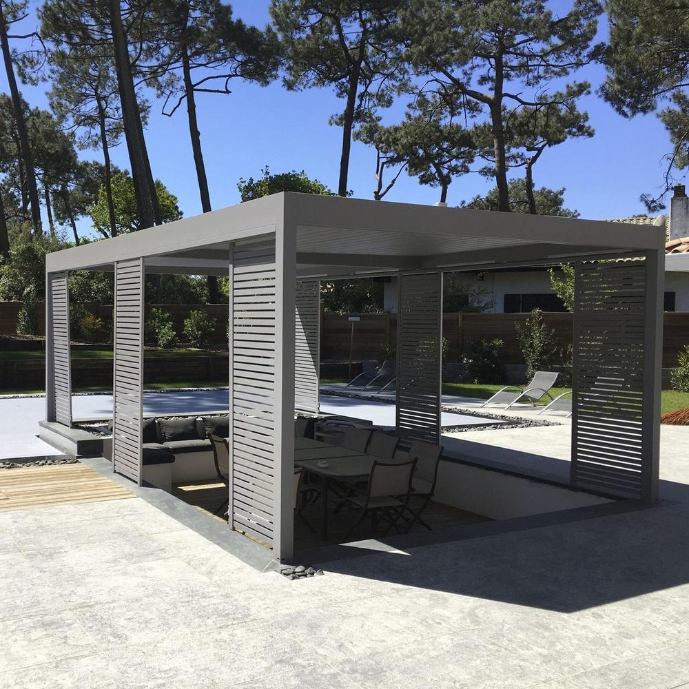 Garden outdoor aluminium pergola with polycarbonate roof