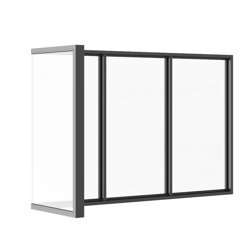 China made popular design Nice aluminium frame sliding glass window
