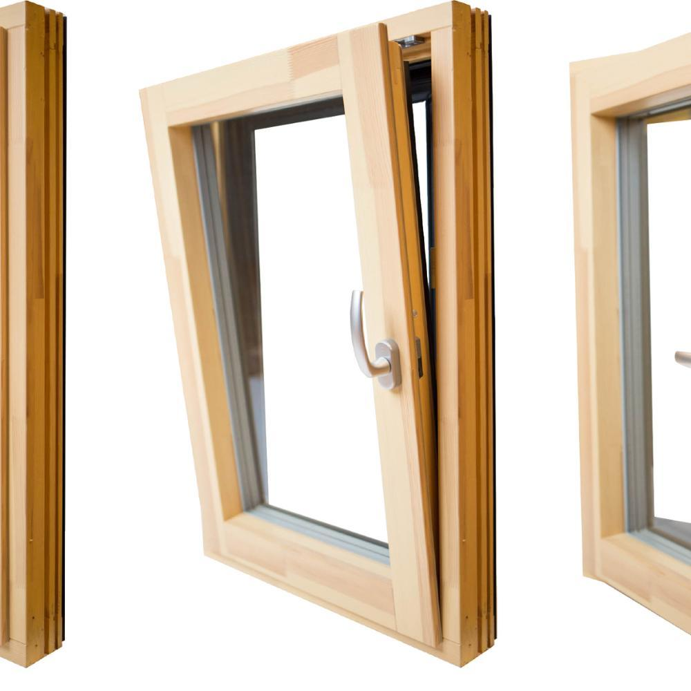 Wooden Tilt-Turn Window Aluminum Alloy Frame