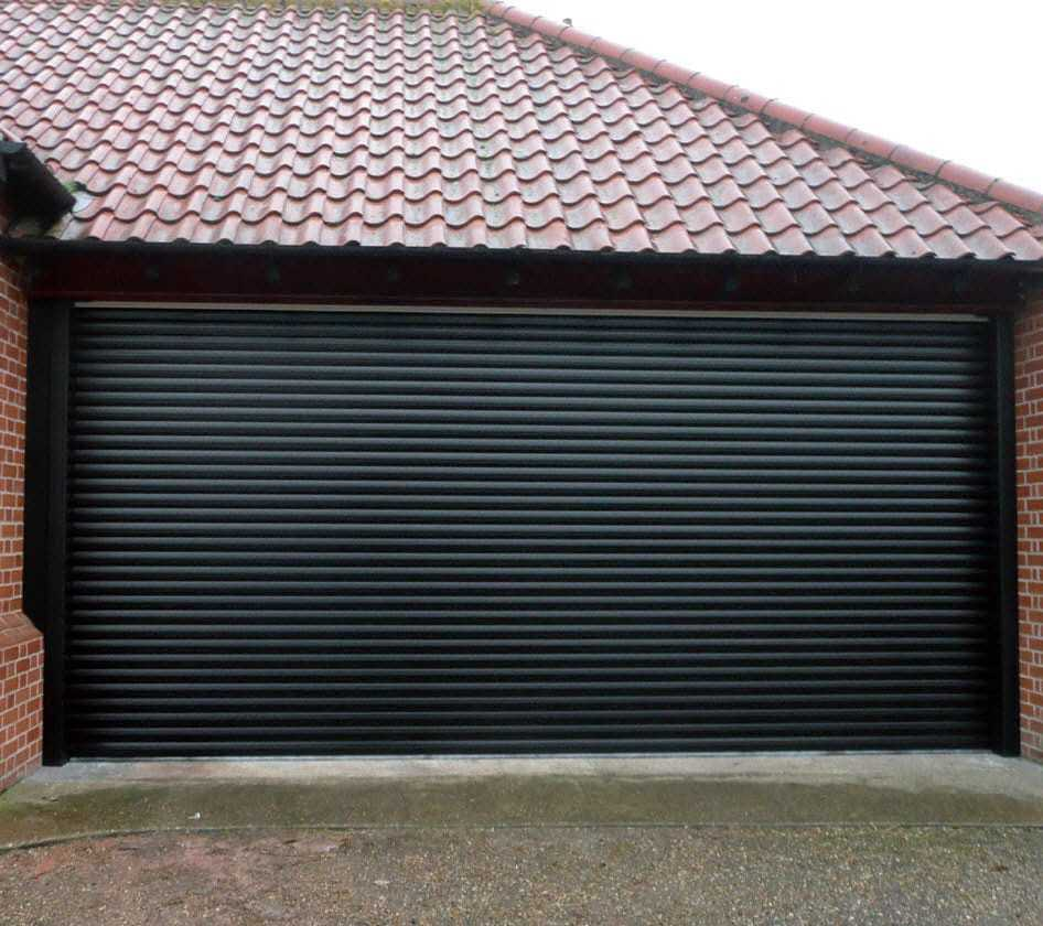 Flip up fire rated aluminium garage doors