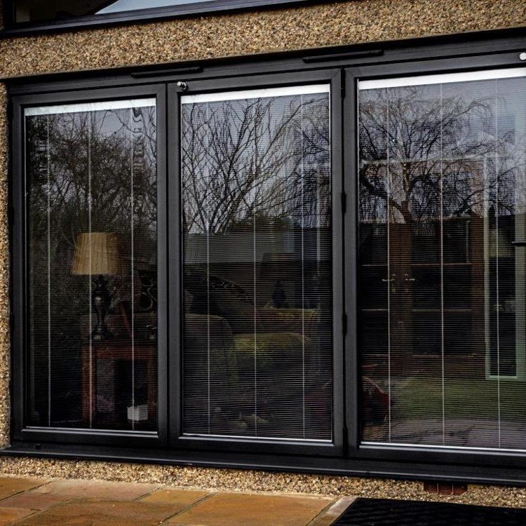 Wood grainaluminium horizontal sliding glass window