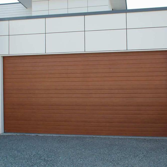 Wholesale wood grain aluminum garage panel door