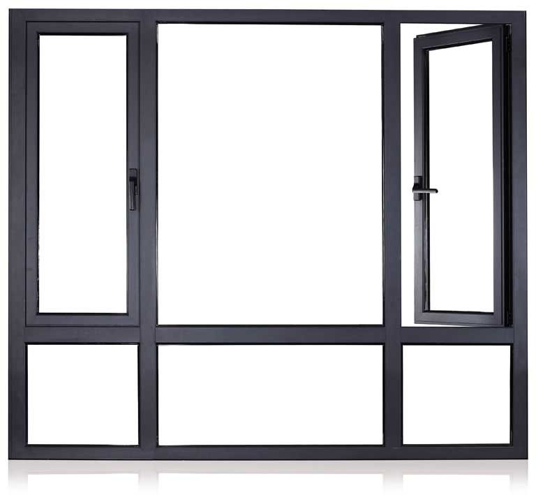 Have No Rail to Obstruct View Aluminum Casement Window Aluminium Extrusion Profile Frame