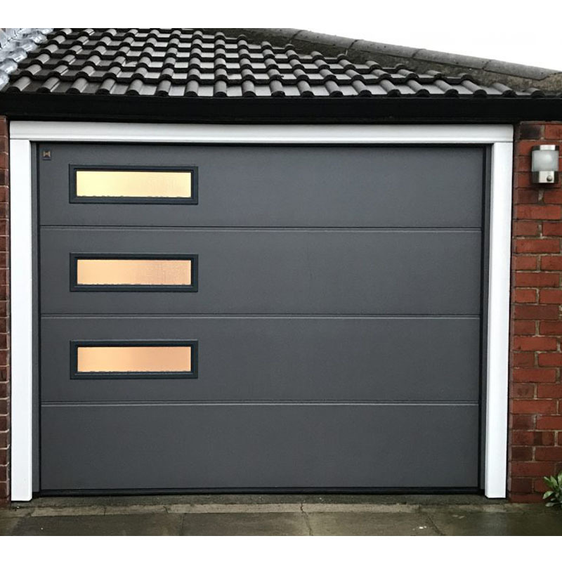 Nice price automatic electric remote control up-ward sliding garage doors