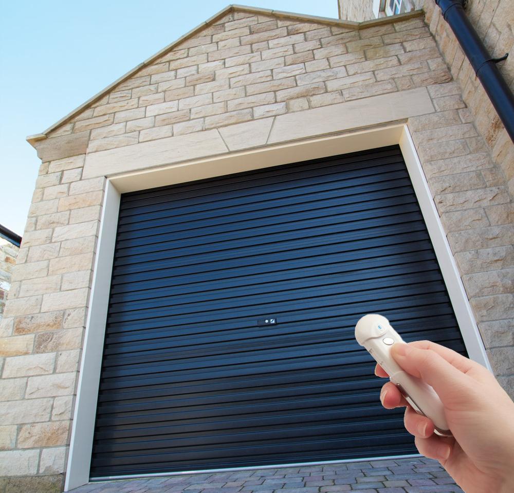 Residential hurricane aluminum exterior rolling shutter door