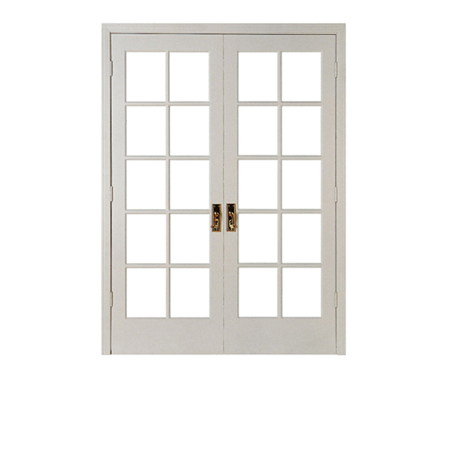 White Aluminum Swing Opening Double glazing system Window grill insert