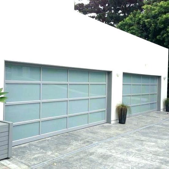 Bespoke sectional aluminium garage goors