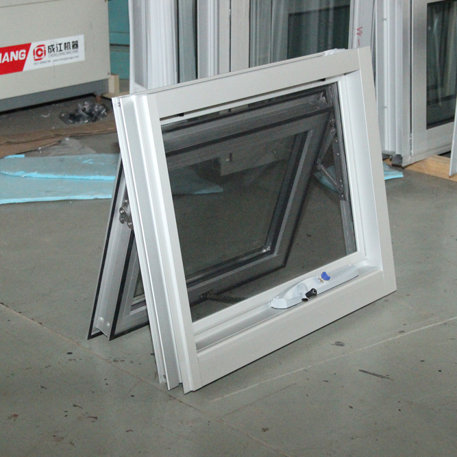 Aluminium casement window import good accessories top hung style