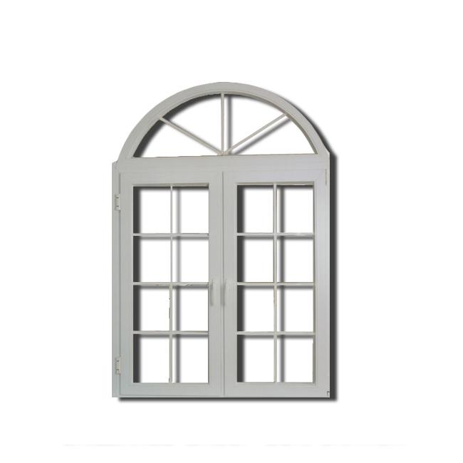High Standard Living Room Pvc Arch Casement Window Swing Grill Window