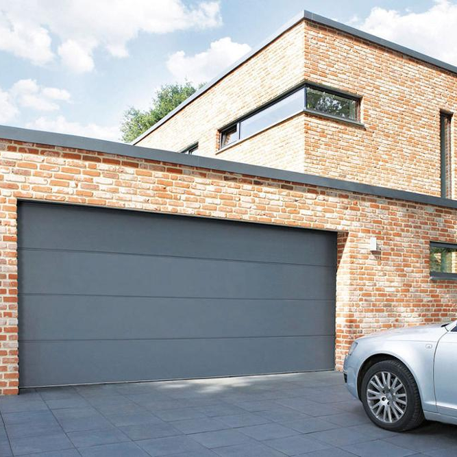 Tilt and flip aluminium garage doors for low height garage solutions