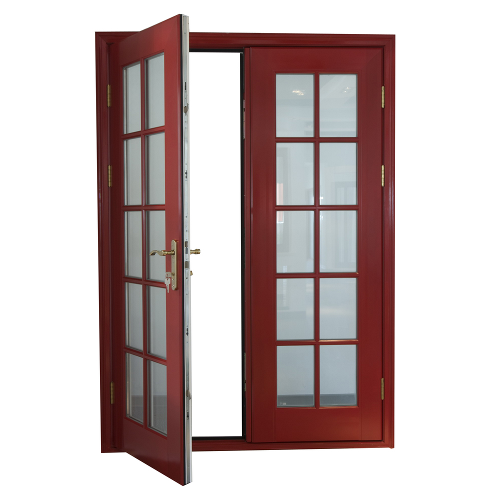 Grilled Design Swing Aluminium Glass Door Windows Frame Profile