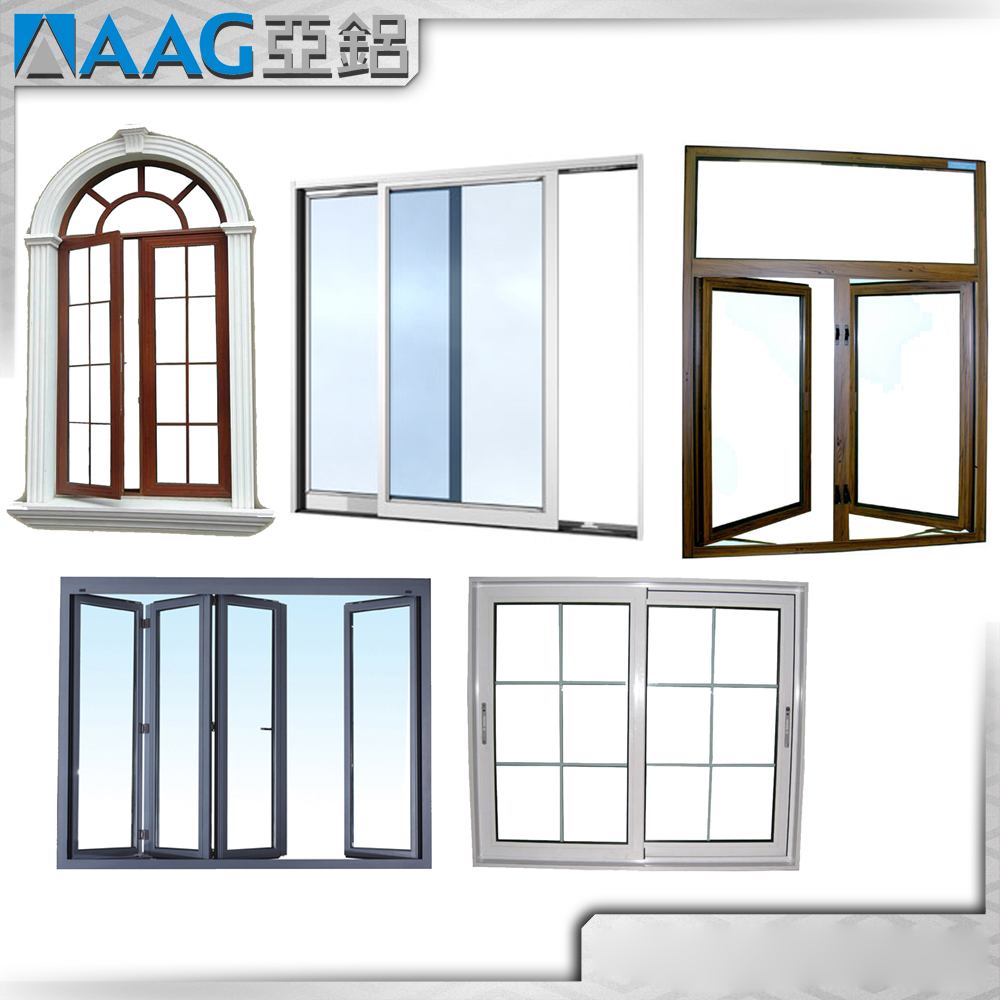 Aluminum Alloy Window Frames OEM Vertical Aluminum Window Profile