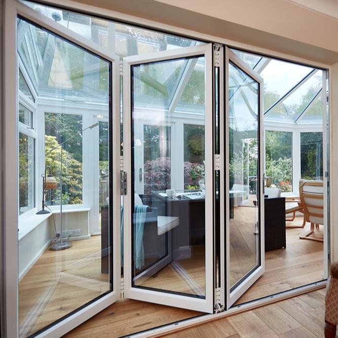 Australian standard aluminium bathroom glass folding door