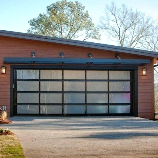 Aluminium glass garage door overhead sectional garagedoor