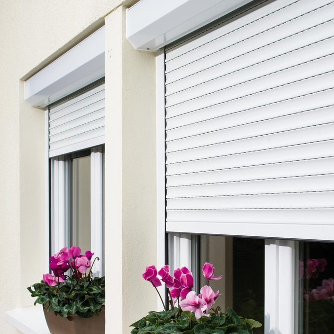 Modern safety door design aluminum electric roller blinds
