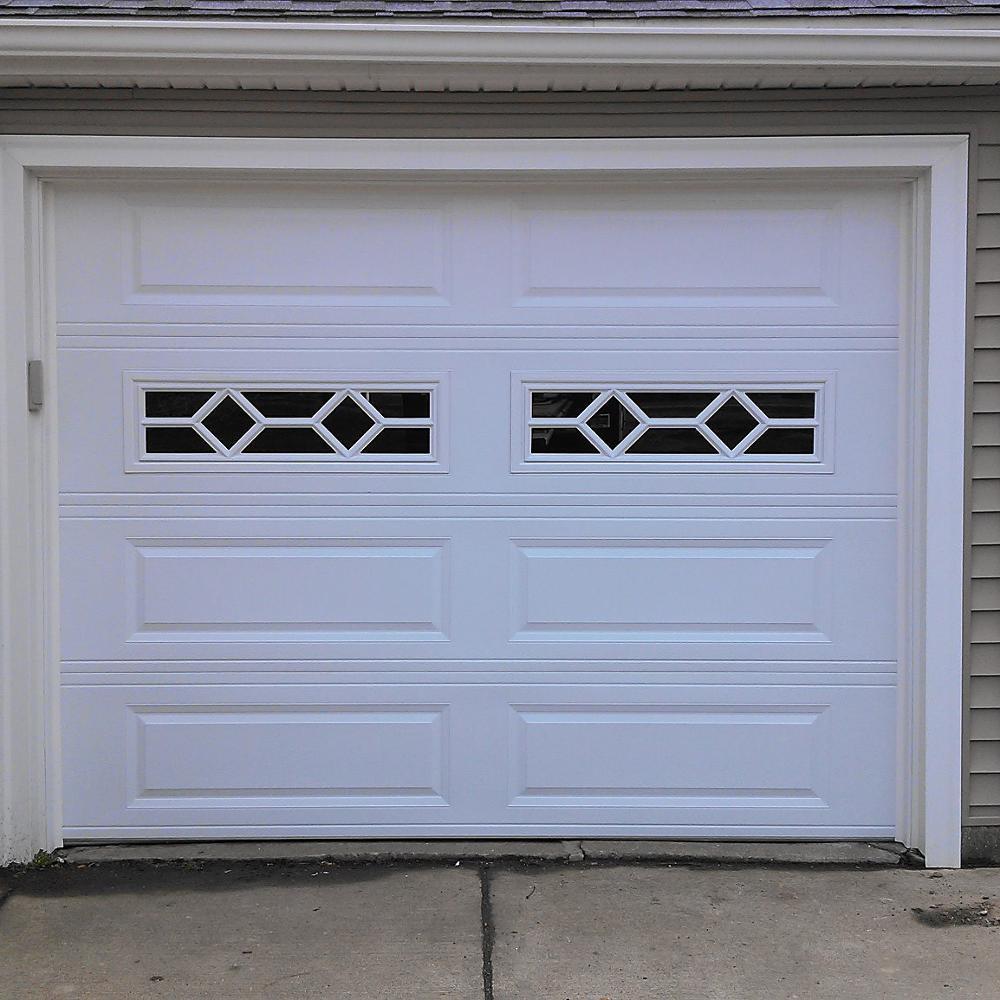 Insulation foam upturned aluminum garage door