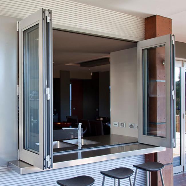 EU Standard Aluminum Bi-Folding Window Accordion For Big House