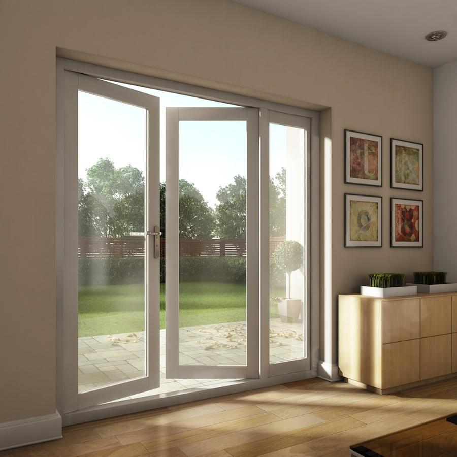 Double glazed aluminium glass hinged door design garden swing french door