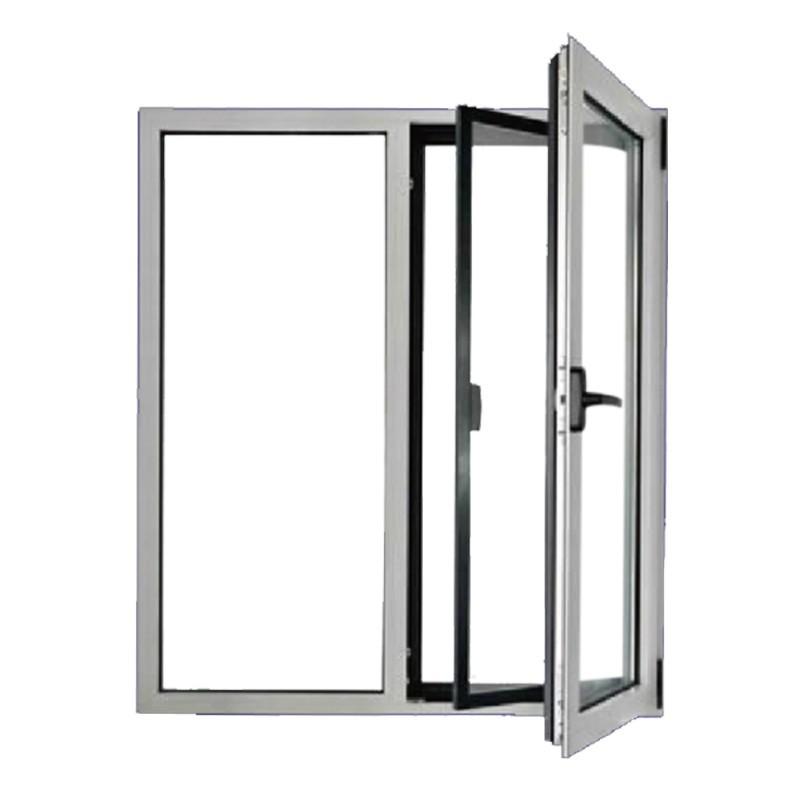 Vertical aluminium casement window double glazing aluminum windows