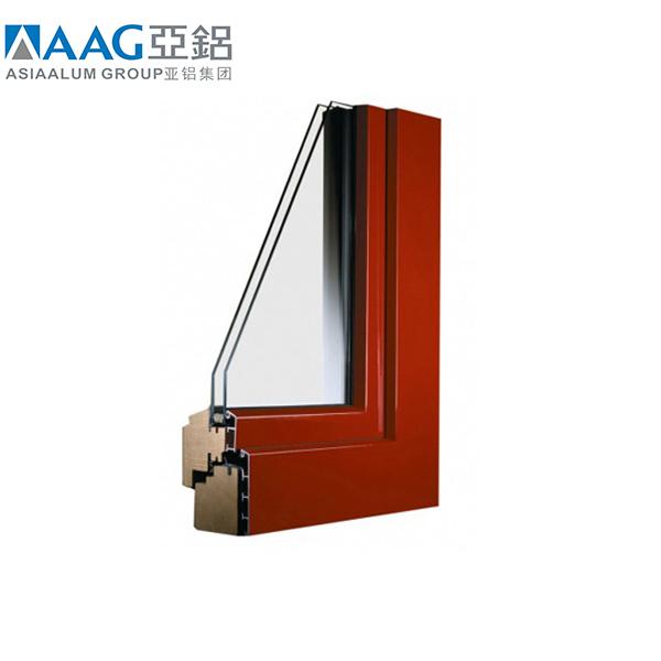Wood grainfrench stylealuminum awning window