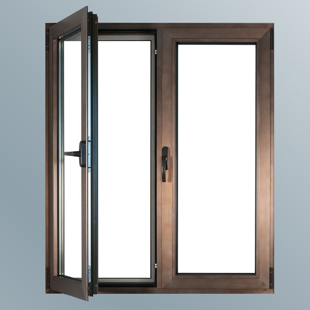 China Top Aluminum Quality Good Price Customized Color Double Casement Window