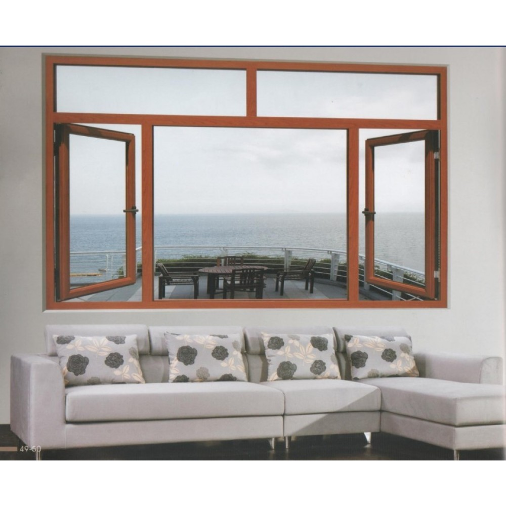 Aluminium swing opening double glass casement window